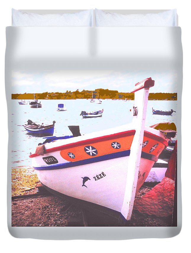 Portugal Duvet Cover featuring the photograph Zeze On The Algarve by Ian MacDonald