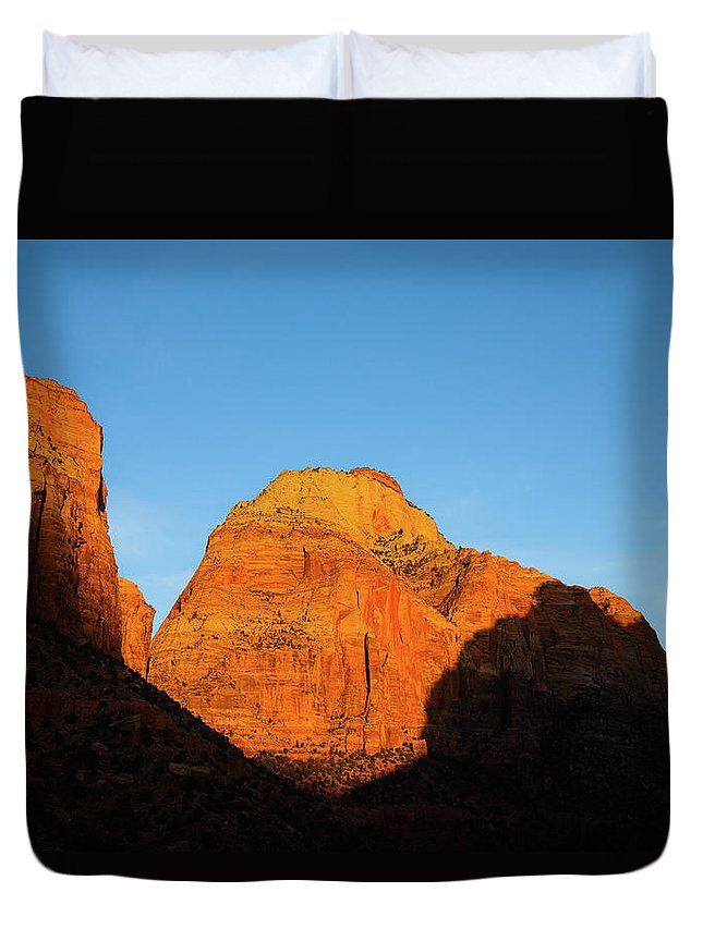 National Park Duvet Cover featuring the photograph Zion National Park, Utah by Hyuntae Kim