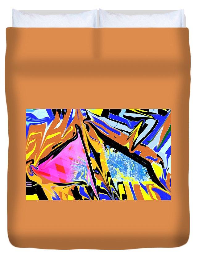 Abstract Duvet Cover featuring the digital art Zulu by Ian MacDonald
