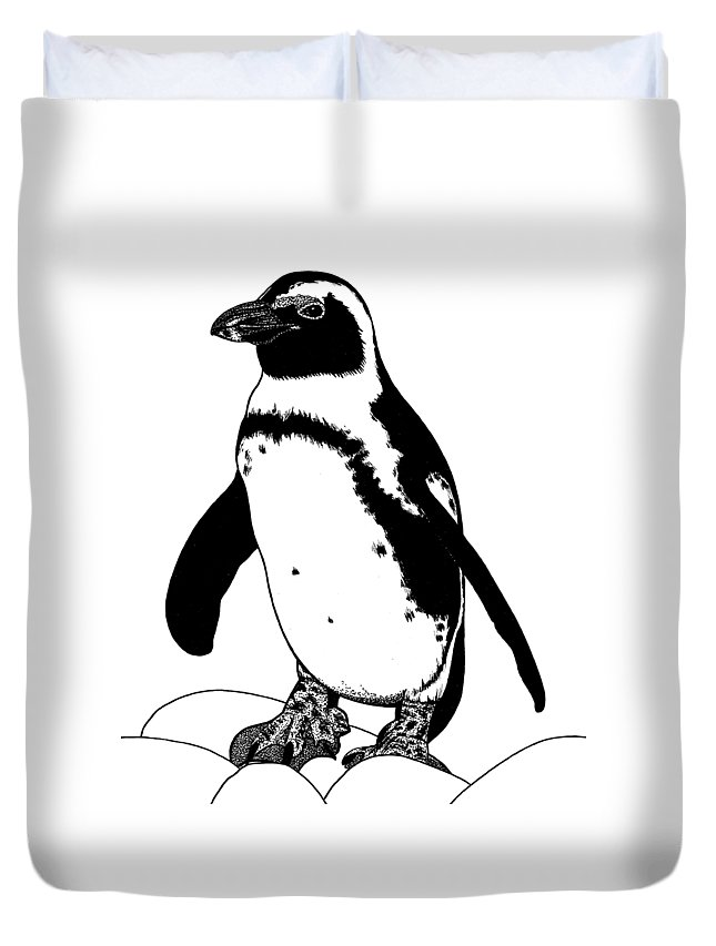 African Bird Drawings Duvet Covers