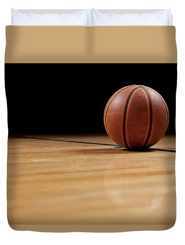 Ball Duvet Cover featuring the photograph Basketball by Garymilner