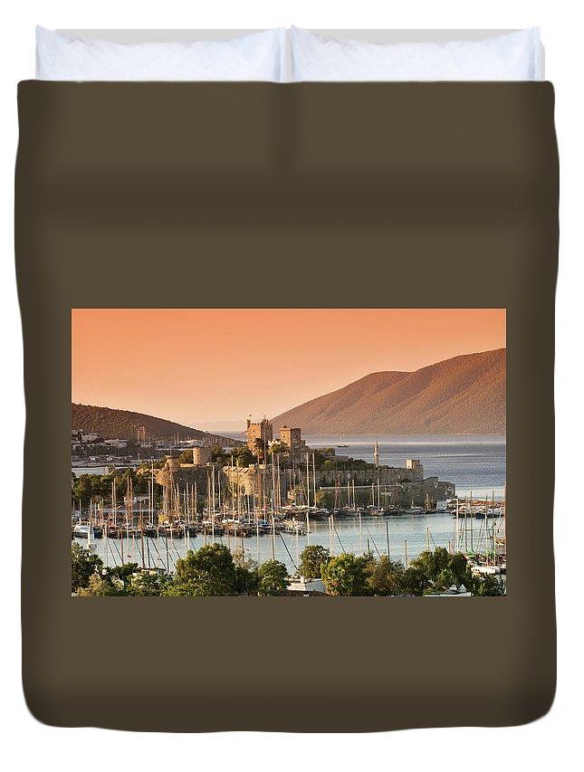 Built Structure Duvet Cover featuring the photograph Bodrum Castle by Izzet Keribar