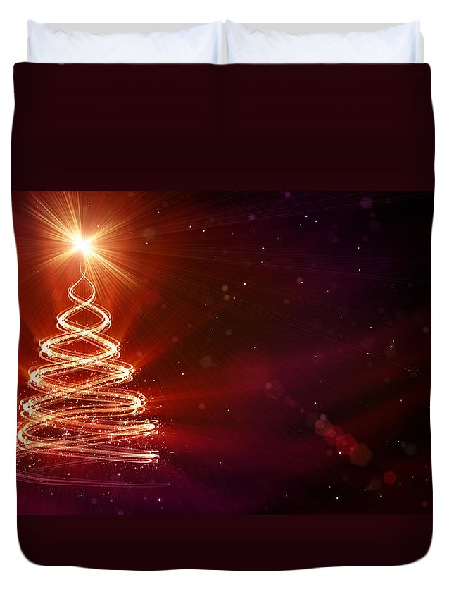 Particle Duvet Cover featuring the digital art Christmas Background by Da-kuk