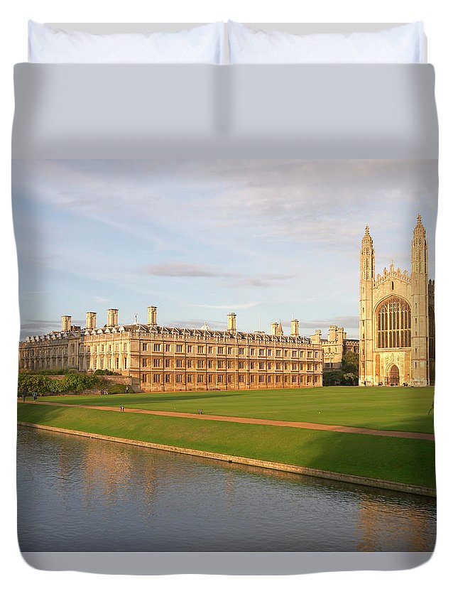 Shadow Duvet Cover featuring the photograph England, Cambridge, Cambridge by Andrew Holt