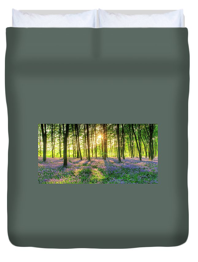Tranquility Duvet Cover featuring the photograph English Bluebells by Tu Xa Ha Noi