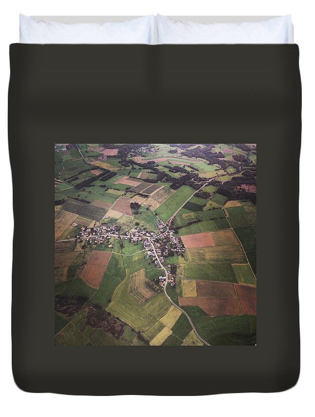 Tranquility Duvet Cover featuring the photograph High Angle Aerial View Of Croatia by Yulia Reznikov
