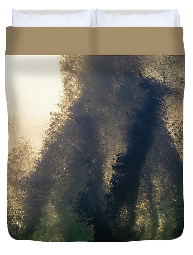 Kona Duvet Cover featuring the photograph High Surf Explosion by Christopher Johnson