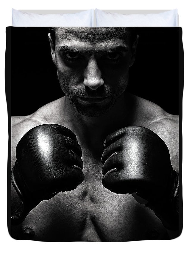 Toughness Duvet Cover featuring the photograph Mma Fighter by Vuk8691