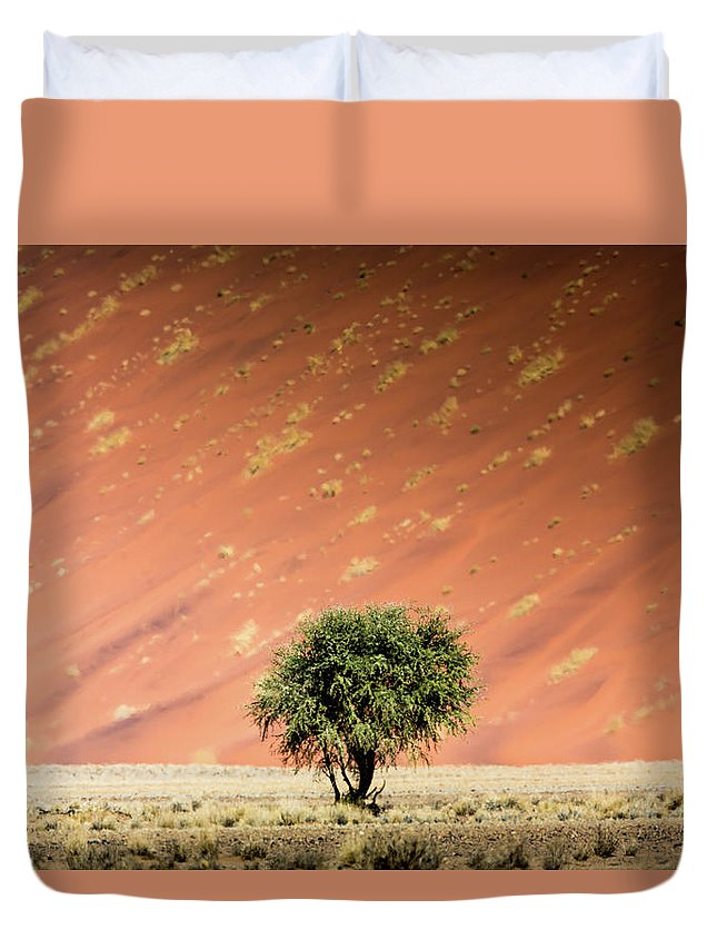 Tranquility Duvet Cover featuring the photograph Namib Desert by Manuel Romaris