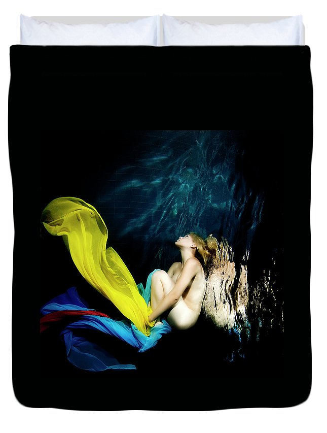 Ballet Dancer Duvet Cover featuring the photograph Nymph by 1001nights