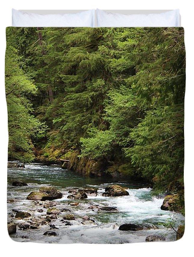Ohanapecosh Duvet Cover featuring the photograph Ohanapecosh River by Lkb Art And Photography