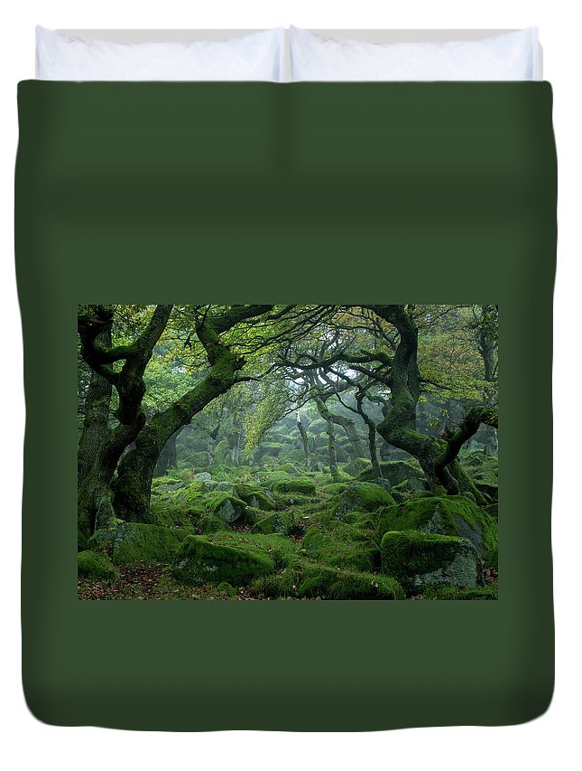 Tranquility Duvet Cover featuring the photograph Padley Gorge by Duncan Fawkes