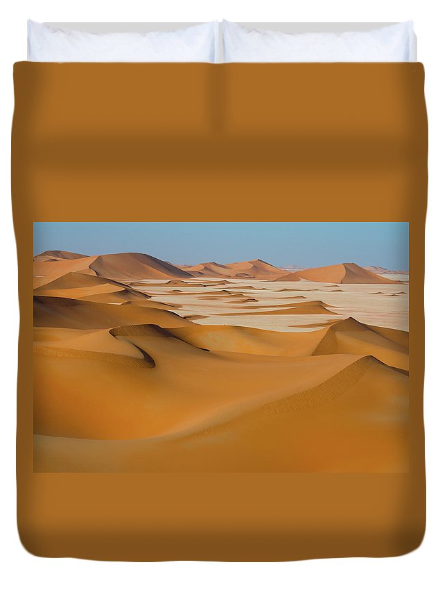 Tranquility Duvet Cover featuring the photograph Rub Al-khali Empty Quarter by All Rights Reserved For Ahmed Al-shukaili