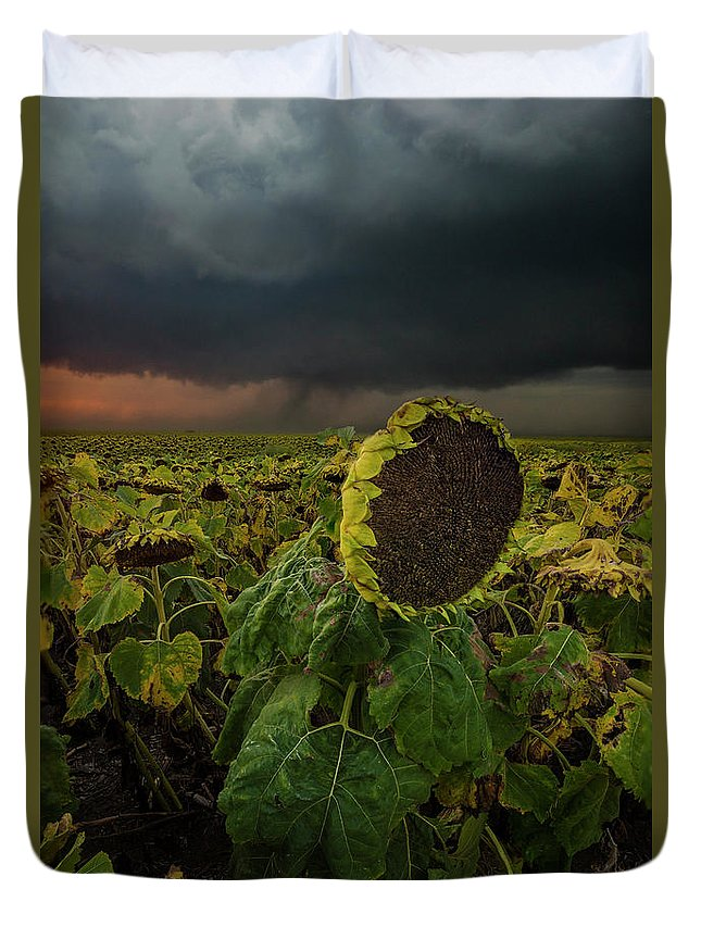 Tornado Duvet Cover featuring the photograph Twisted by Aaron J Groen