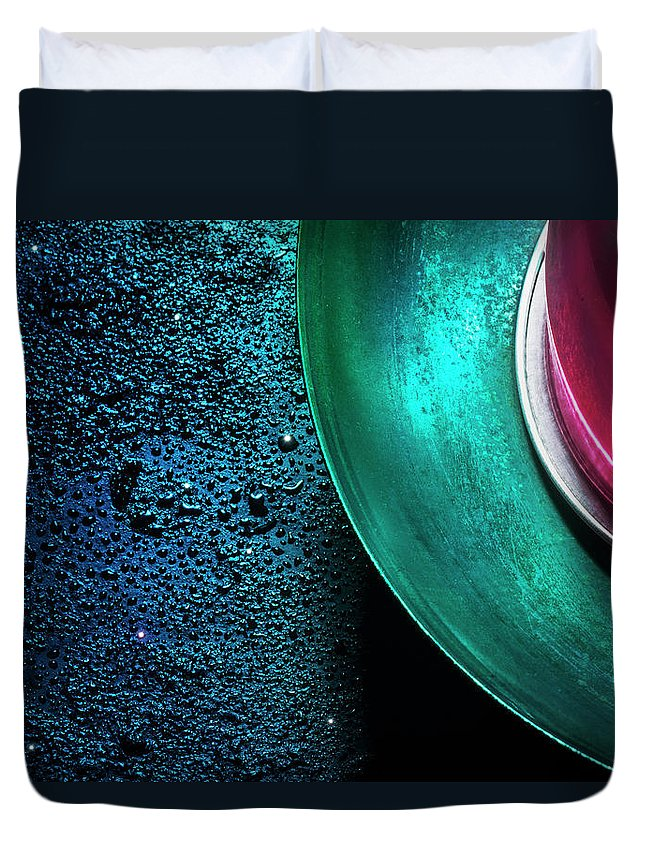 Domestic Room Duvet Cover featuring the photograph Universe In The Kitchen by Hiroshi Watanabe