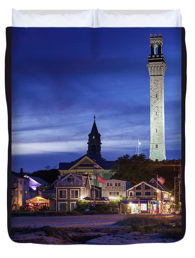 Water's Edge Duvet Cover featuring the photograph Usa, Massachusetts, Cape Cod by Walter Bibikow
