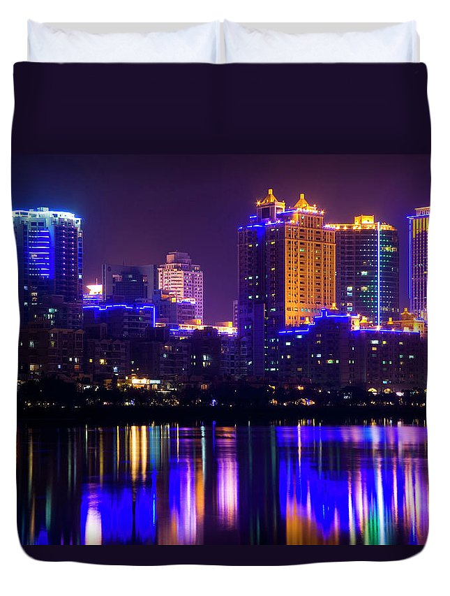 Chinese Culture Duvet Cover featuring the photograph Xiamen,fujian by Best View Stock