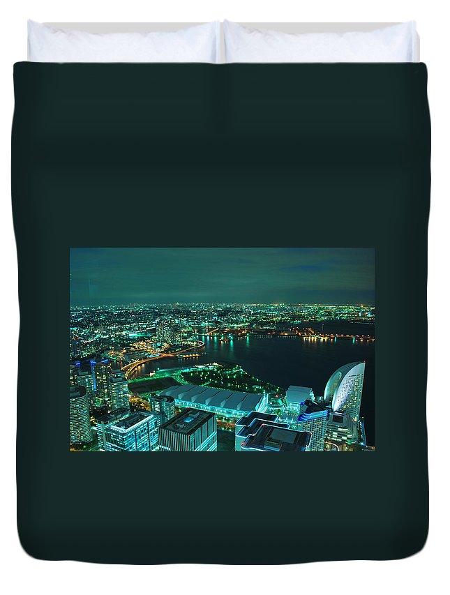 Yokohama Duvet Cover featuring the photograph Yokohama by Copyright Artem Vorobiev