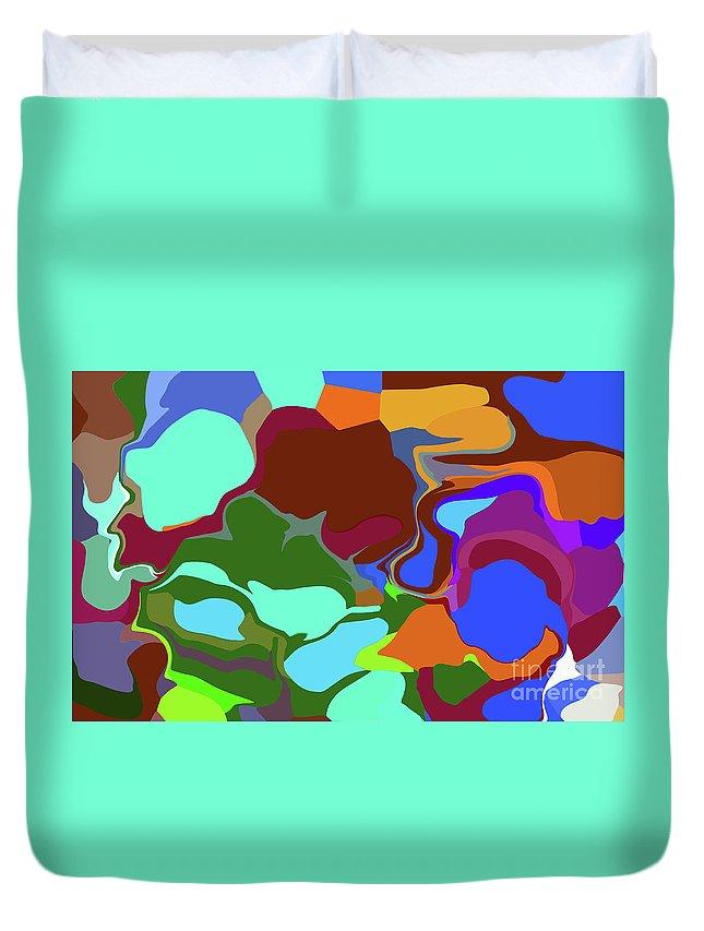 Walter Paul Bebirian Duvet Cover featuring the digital art 10-19-2008abcdefghi by Walter Paul Bebirian