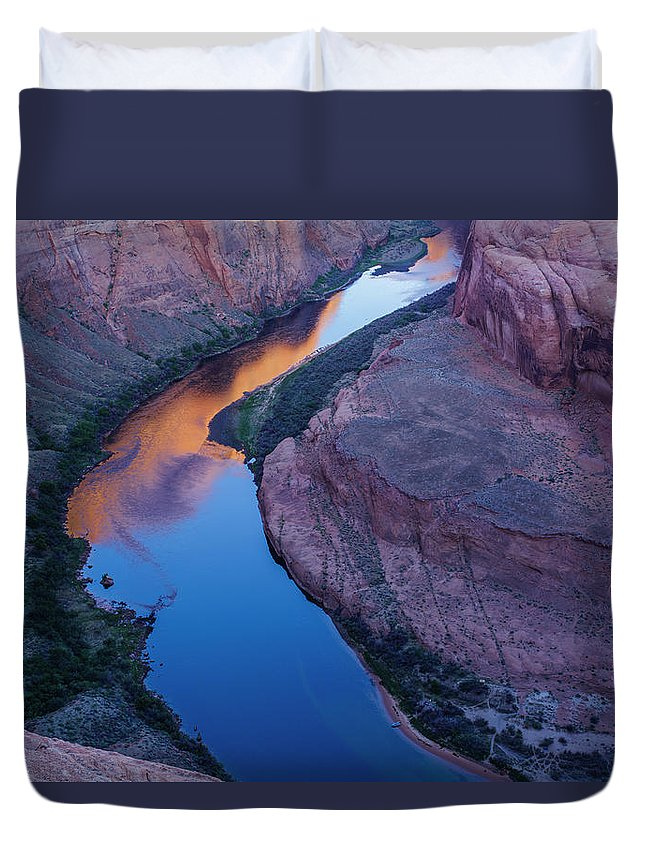 Tranquility Duvet Cover featuring the photograph Sand Stone Rock Formation In Sw Usa by Gavriel Jecan