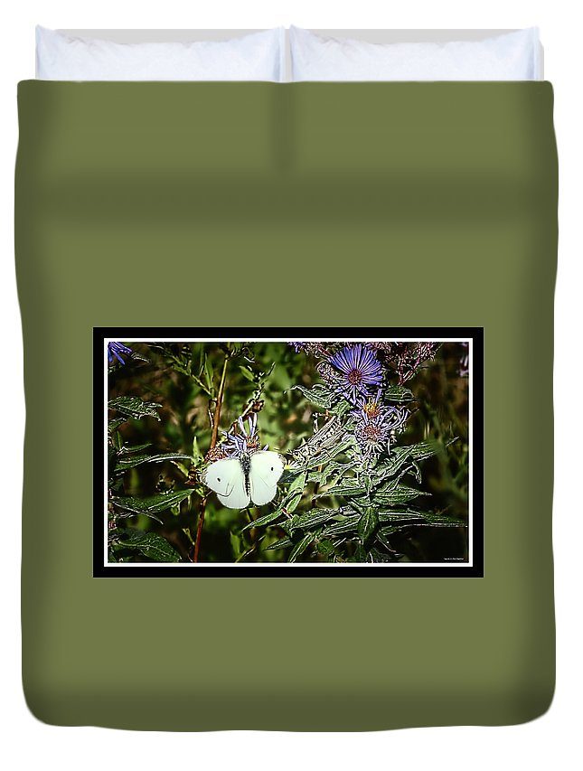 Butterfly Duvet Cover featuring the photograph 100919-55 by Mike Davis
