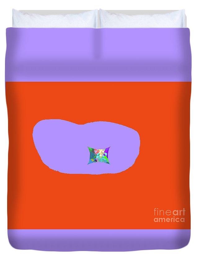 Walter Paul Bebirian Duvet Cover featuring the digital art 11-18-2009ka by Walter Paul Bebirian