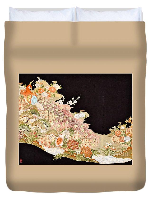 Duvet Cover featuring the digital art Spirit of Japan T74 by Miho Kanamori