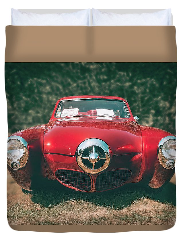 Vehicle Duvet Cover featuring the photograph 1950 Studebaker by Scott Norris