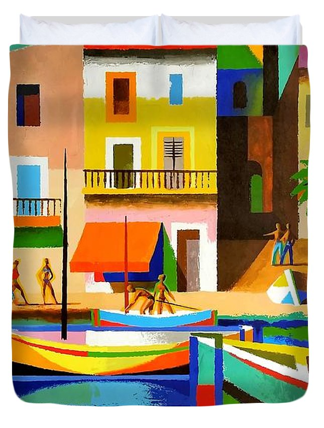 FRENCH VINTAGE TRAVEL POSTER TO THE COTE D/'AZUR BY TAL