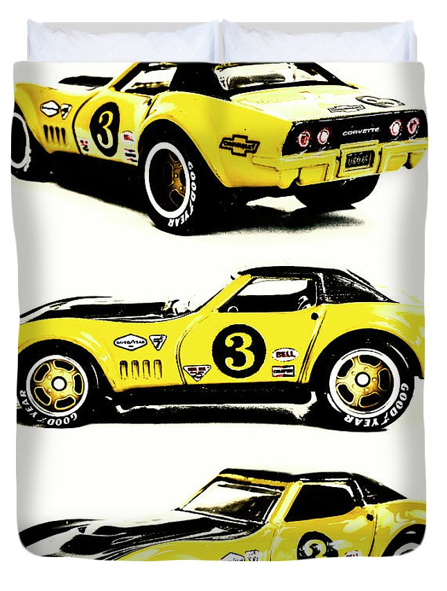 Car Duvet Cover featuring the photograph 1969 Chevrolet Copo Corvette by Jorgo Photography - Wall Art Gallery