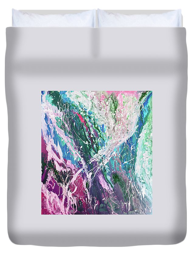 Art Duvet Cover featuring the digital art Abstract Background by Balticboy