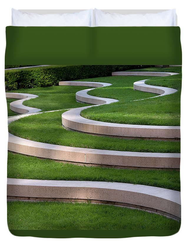 Grass Duvet Cover featuring the photograph Architectural Design by Mitch Diamond