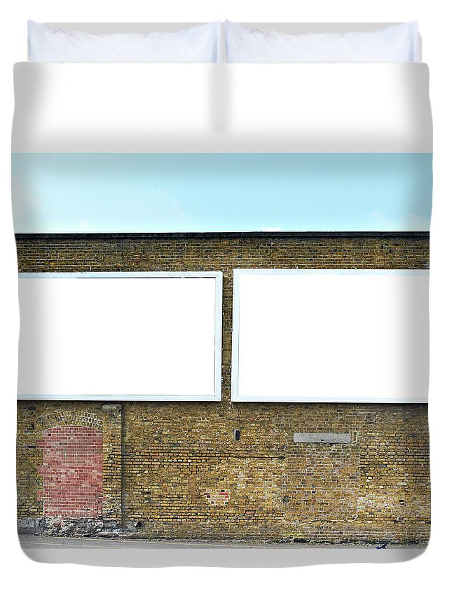 Empty Duvet Cover featuring the photograph 2 Blank Billboards by Ben Richardson