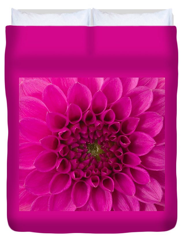 Saturated Color Duvet Cover featuring the photograph Dahlia by Vidok