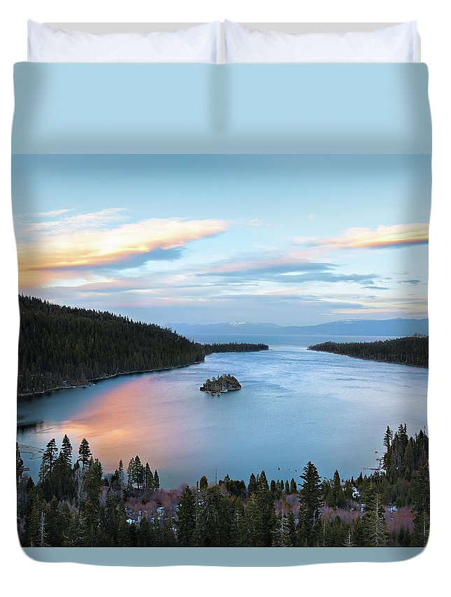 Scenics Duvet Cover featuring the photograph Lake Tahoe by Ropelato Photography; Earthscapes