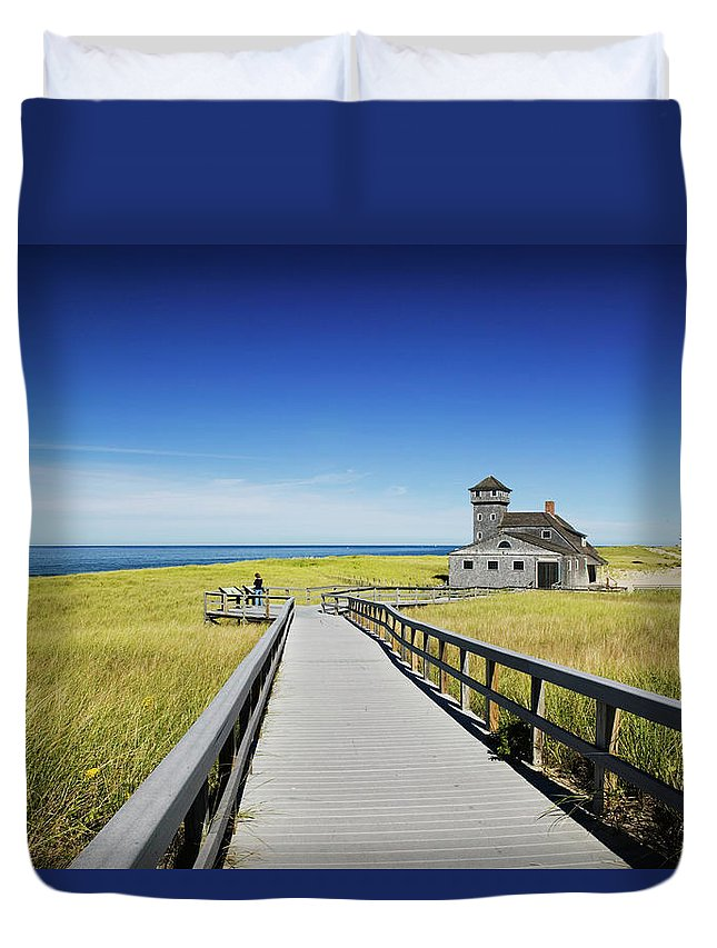Outdoors Duvet Cover featuring the photograph Usa, Massachusetts, Cape Cod by Walter Bibikow