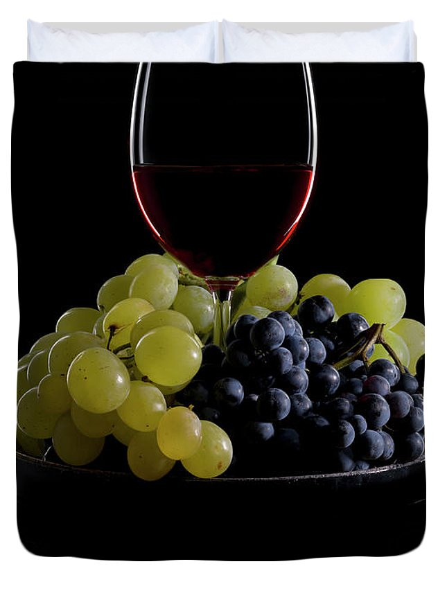 Alcohol Duvet Cover featuring the photograph Wine by Syldavia