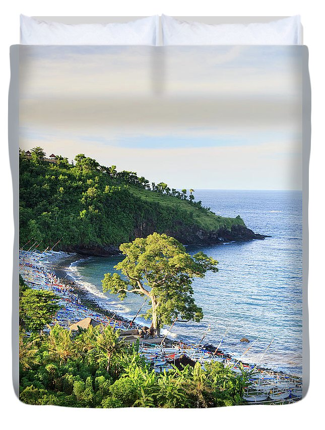 Scenics Duvet Cover featuring the photograph Indonesia, Bali, Rice Fields And by Michele Falzone