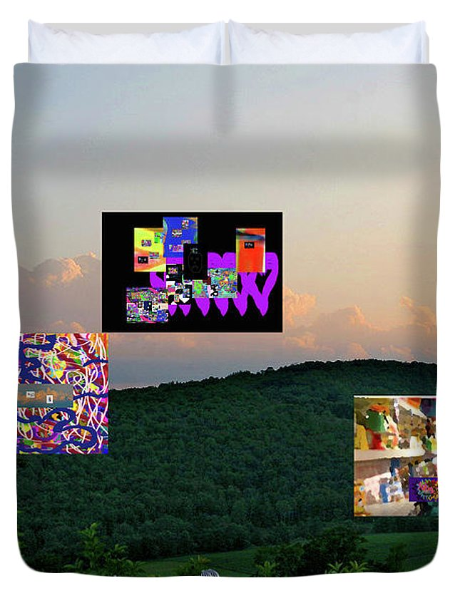Walter Paul Bebirian: Volord Kingdom Art Collection Grand Gallery Duvet Cover featuring the digital art 3-25-2019c by Walter Paul Bebirian