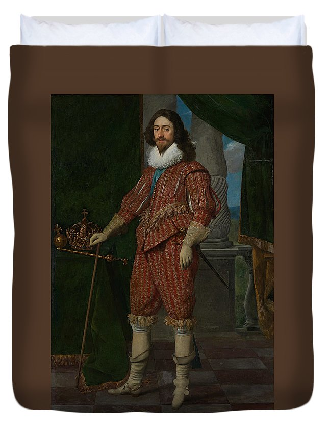 17th Century Art Duvet Cover featuring the painting Charles I, King Of England by Daniel Mijtens