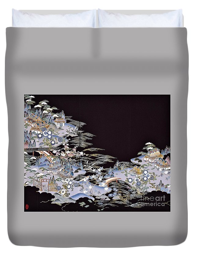 Duvet Cover featuring the digital art Spirit of Japan T53 by Miho Kanamori