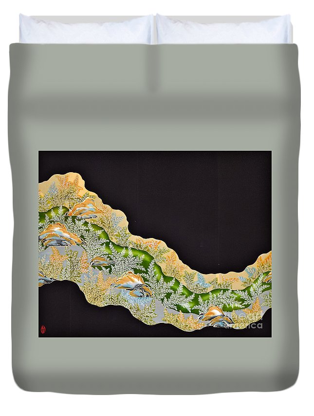 Duvet Cover featuring the tapestry - textile Spirit of Japan T50 by Miho Kanamori
