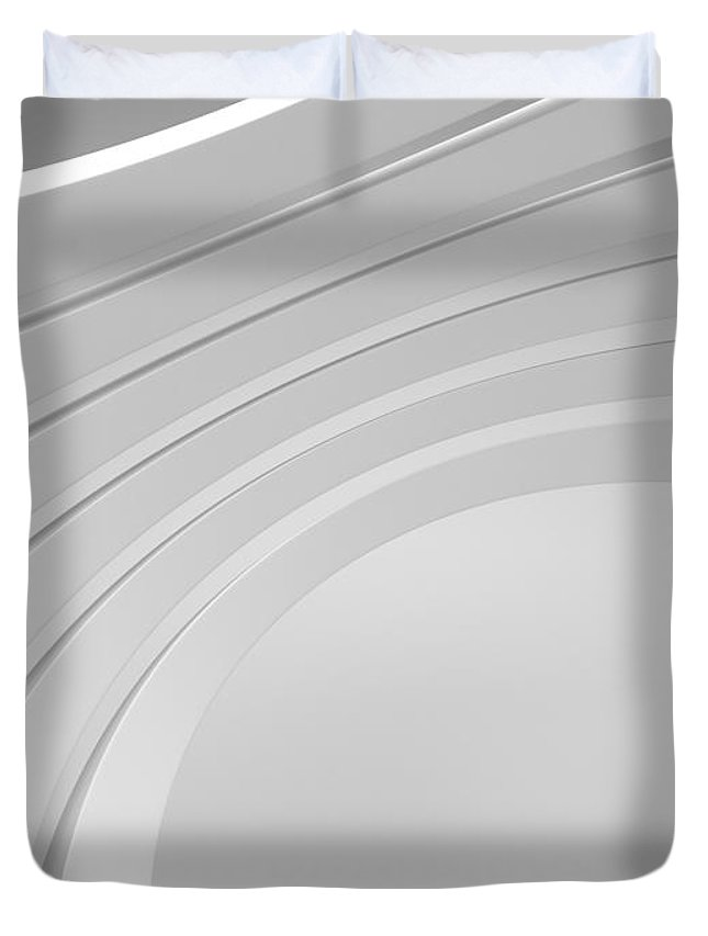 Arch Duvet Cover featuring the photograph 3d Abstract Architecture Background by Me4o
