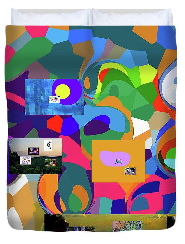 Duvet Cover featuring the digital art 4-28-3019e by Walter Paul Bebirian