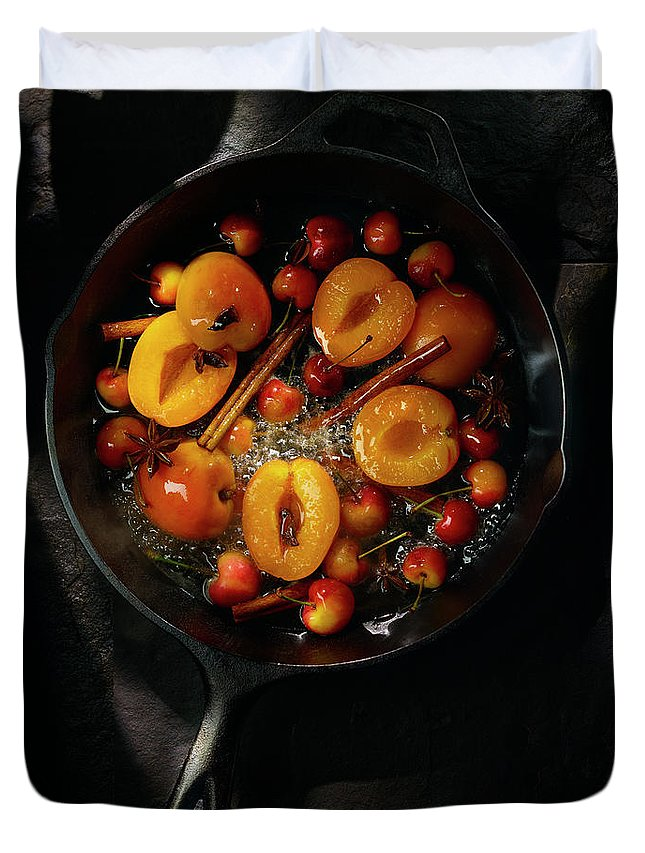Cherry Duvet Cover featuring the photograph Food by Brian Macdonald