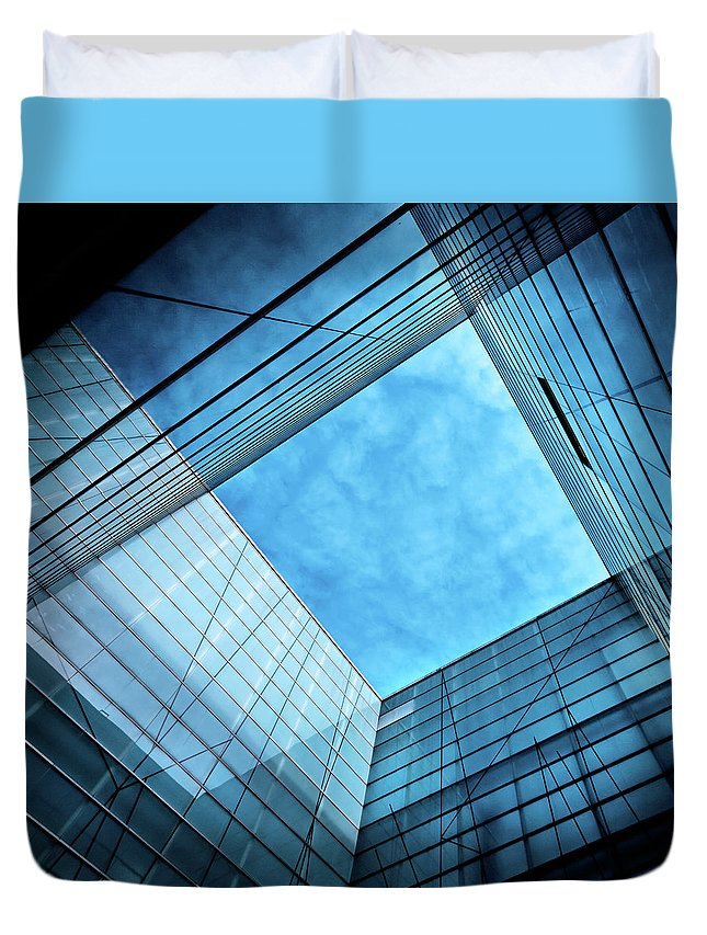 Office Duvet Cover featuring the photograph Modern Glass Architecture by Nikada