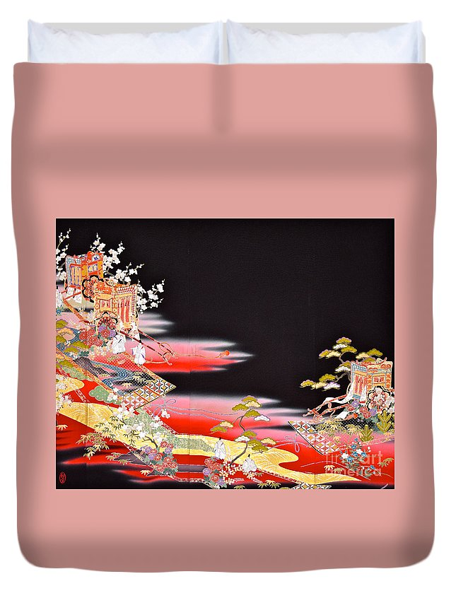 Duvet Cover featuring the tapestry - textile Spirit of Japan T81 by Miho Kanamori