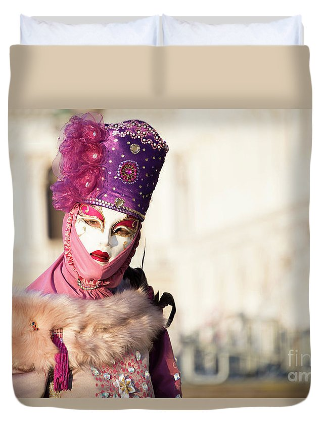 Art Duvet Cover featuring the photograph Venice Carnival 2019 by Juli Scalzi