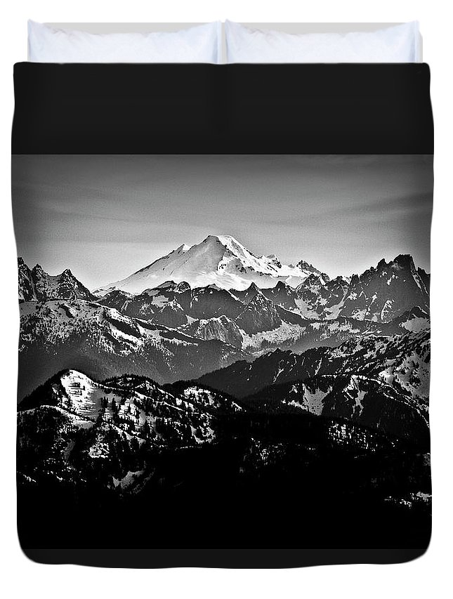 Tranquility Duvet Cover featuring the photograph Mount Baker by Christopher Kimmel