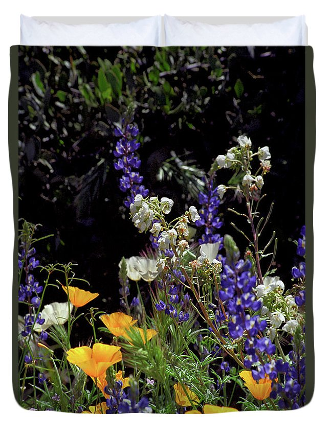 Spring Duvet Cover featuring the photograph A Bouquet from God by Kathy McClure